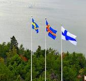 σημαίες σκανδιναβικά Στοκ εικόνα με δικαίωμα ελεύθερης χρήσης