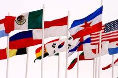 Σημαίες στη σπόλα Κάλγκαρι Στοκ φωτογραφία με δικαίωμα ελεύθερης χρήσης