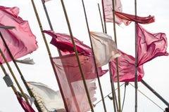 Σημαίες στο θυελλώδη καιρό Στοκ φωτογραφίες με δικαίωμα ελεύθερης χρήσης