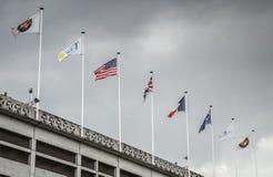 Σημαίες στο Roland Garros στοκ εικόνες με δικαίωμα ελεύθερης χρήσης
