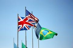 σημαίες συμπαθητικές Στοκ Φωτογραφίες
