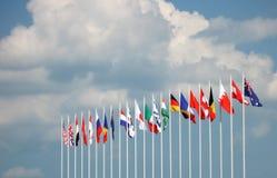 σημαίες σφαιρικές Στοκ φωτογραφία με δικαίωμα ελεύθερης χρήσης