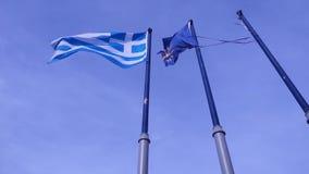 Σημαίες της Ελλάδας Μακεδονία απόθεμα βίντεο