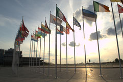 σημαίες της Ευρώπης Στοκ Εικόνες