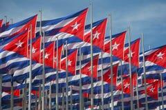 σημαίες της Κούβας στοκ φωτογραφίες