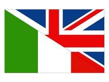 Σημαίες της Μεγάλης Βρετανίας και της Ιταλίας διανυσματική απεικόνιση