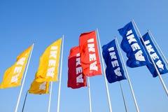 Σημαίες της IKEA Στοκ Εικόνα