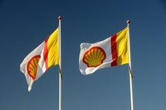 Σημαίες της Shell Στοκ Εικόνες