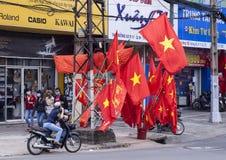 Σημαίες του Βιετνάμ Στοκ φωτογραφία με δικαίωμα ελεύθερης χρήσης