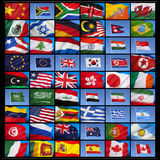 Σημαίες του κόσμου Στοκ εικόνα με δικαίωμα ελεύθερης χρήσης