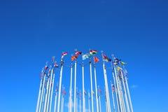 Σημαίες των ευρωπαϊκών χωρών Στοκ εικόνες με δικαίωμα ελεύθερης χρήσης