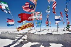 Σημαίες των διάφορων εθνών, Βολιβία Στοκ Φωτογραφίες