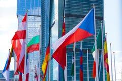 Σημαίες των διαφορετικών χωρών Στοκ φωτογραφίες με δικαίωμα ελεύθερης χρήσης