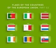 Σημαίες των χωρών της ΕΕ Στοκ εικόνα με δικαίωμα ελεύθερης χρήσης