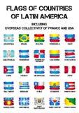σημαίες των χωρών της Λατινικής Αμερικής ελεύθερη απεικόνιση δικαιώματος