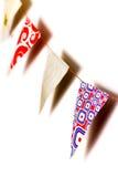 Σημαίες υφάσματος τριγώνων   Στοκ Φωτογραφία