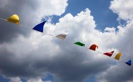 Σημαίες υφάσματος Στοκ φωτογραφία με δικαίωμα ελεύθερης χρήσης