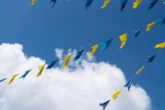 Σημαίες υφάσματος Στοκ εικόνες με δικαίωμα ελεύθερης χρήσης