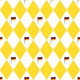 Σημαίες φεστιβάλ μπύρας του Μόναχου και rhomb άνευ ραφής σχέδιο Υπόβαθρο Oktoberfet, διανυσματική απεικόνιση Στοκ φωτογραφία με δικαίωμα ελεύθερης χρήσης