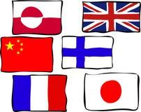 σημαίες φοβιτσιάρεις απεικόνιση αποθεμάτων