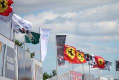 σημαίες Φόρμουλα 1 Στοκ φωτογραφία με δικαίωμα ελεύθερης χρήσης