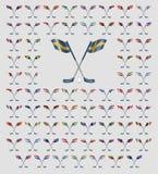 Σημαίες χωρών λογότυπων Floorball Στοκ φωτογραφία με δικαίωμα ελεύθερης χρήσης