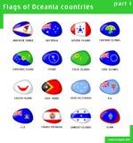 σημαίες Ωκεανία Στοκ εικόνες με δικαίωμα ελεύθερης χρήσης