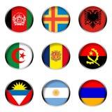 σημαίες 1 που τίθενται διανυσματική απεικόνιση