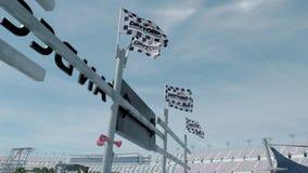 Σημαίες Daytona Beach απόθεμα βίντεο