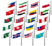 σημαίες g20 εθνικές Στοκ φωτογραφία με δικαίωμα ελεύθερης χρήσης