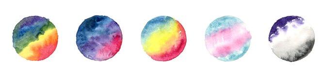 Σημαίες LGBT στις θαμπάδες watercolor ελεύθερη απεικόνιση δικαιώματος