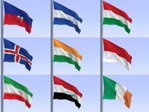 σημαίες vol12 απεικόνιση αποθεμάτων