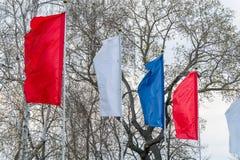 σημαιοστολίζει τον κυμ& Στοκ Φωτογραφίες