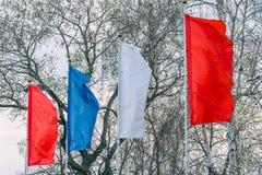 σημαιοστολίζει τον κυμ& Στοκ Εικόνες
