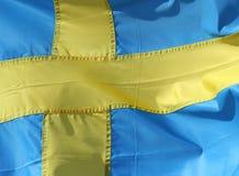 σημαιοστολίστε σουηδ&io Στοκ φωτογραφία με δικαίωμα ελεύθερης χρήσης