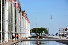Σημαιοστολίζει από το 1998 την παγκόσμια έκθεση στη Λισσαβώνα, Πορτογαλία Στοκ εικόνα με δικαίωμα ελεύθερης χρήσης