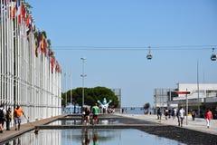 Σημαιοστολίζει από το 1998 την παγκόσμια έκθεση στη Λισσαβώνα, Πορτογαλία Στοκ Εικόνες