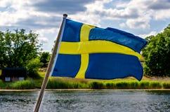 σημαιοστολίστε σουηδ&io στοκ φωτογραφία