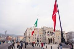 σημαιοστολίστε τα ιταλ& Στοκ Φωτογραφίες