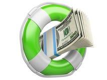 Σημαντήρας ζωής με τα δολάρια. Στοκ εικόνες με δικαίωμα ελεύθερης χρήσης