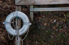 Σημαντήρας που συνδέεται με την ξύλινη θέση Στοκ Εικόνα