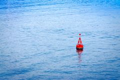 Σημαντήρας στη θάλασσα στοκ εικόνες