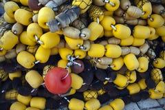 Σημαντήρες από το δίχτυ του ψαρέματος Στοκ Εικόνες