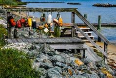 Σημαντήρες και κλιμακοστάσια στο κόλπο Chesapeake στοκ φωτογραφία με δικαίωμα ελεύθερης χρήσης