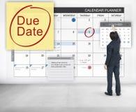 Σημαντική έννοια ειδοποίησης του Μπιλ πληρωμής προθεσμίας οφειλόμενης ημερομηνίας Στοκ Εικόνες