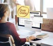 Σημαντική έννοια ειδοποίησης του Μπιλ πληρωμής προθεσμίας οφειλόμενης ημερομηνίας Στοκ Εικόνα