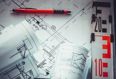 Σημαντική έρευνα στο εργοτάξιο οικοδομής ο επιστάτης Στοκ Φωτογραφία