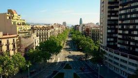 Σημαντική οδός της Βαρκελώνης απόθεμα βίντεο