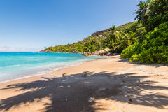 Σημαντική παραλία Anse, νησί Mahe, Σεϋχέλλες Στοκ Εικόνα