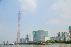 Σημαντικός αντιπρόσωπος Guangzhou της σύγχρονης αρχιτεκτονικής, πύργος TV Guangzhou στοκ εικόνα με δικαίωμα ελεύθερης χρήσης